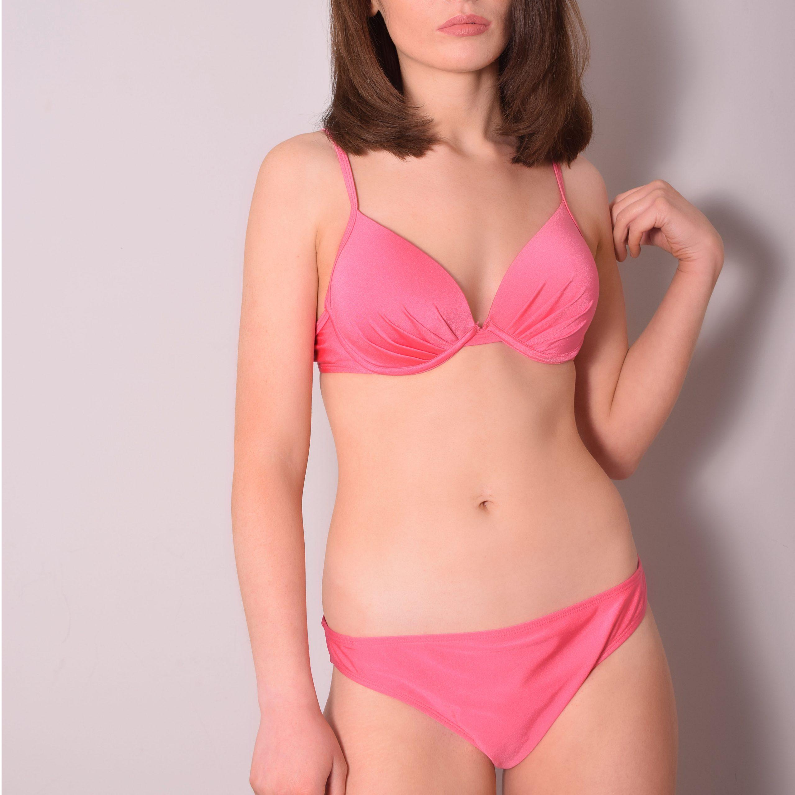 Ladies Plain 2pc Bikini Swim Suit