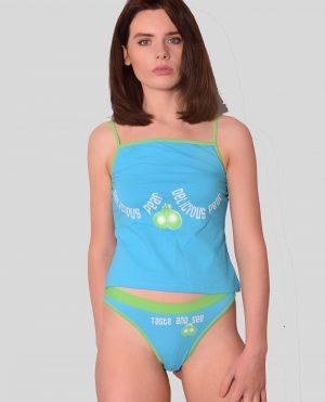Ladies Cheeky Slogan Vest-Top & Brief set