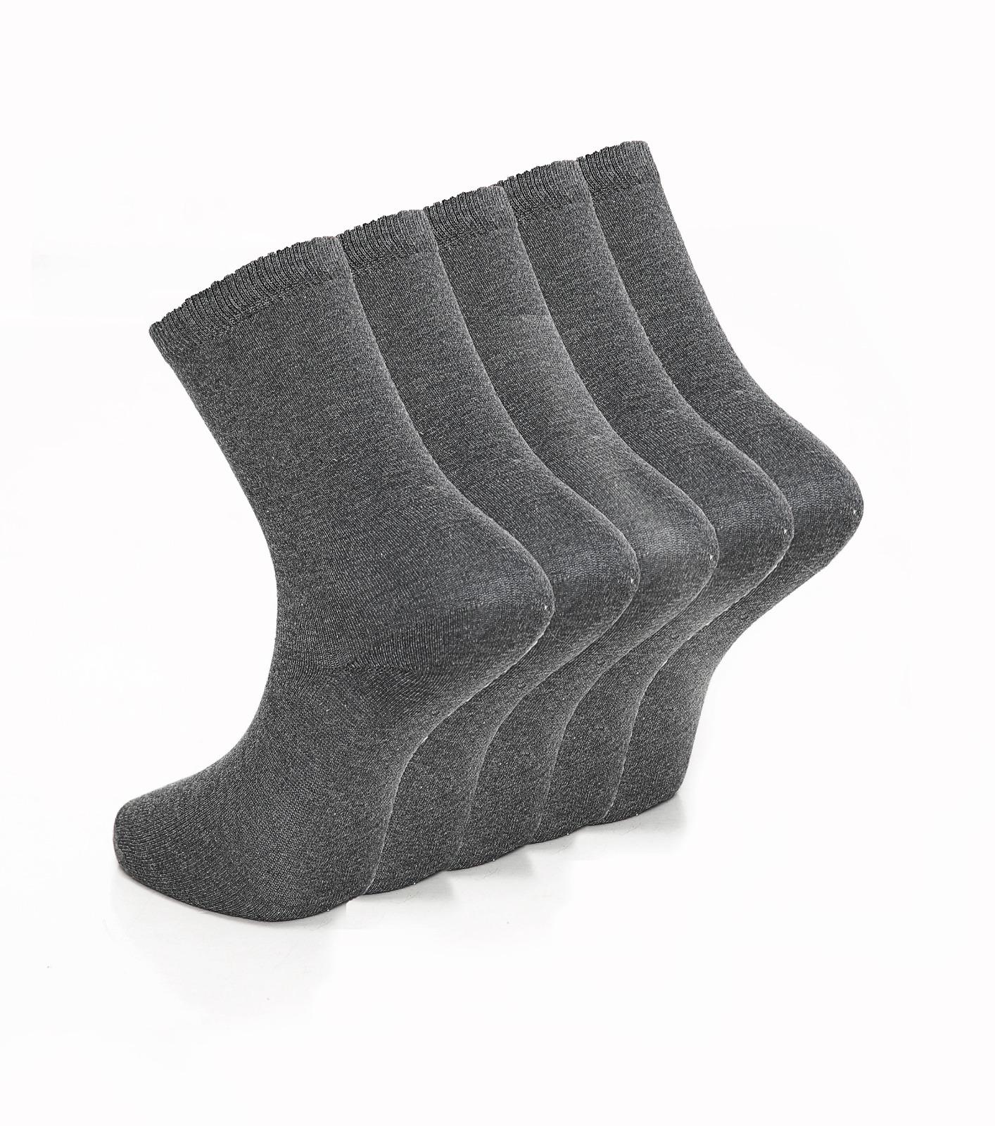 Children's 3pk Plain Dark Grey Cotton Rich Socks